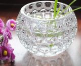 Vaso di vetro rotondo