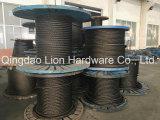 Cordas de fio de aço galvanizadas da boa qualidade com núcleo da fibra