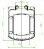 Duroplástico Aseo cubierta de la tapa del asiento cuadrado con el Primer Función Soft