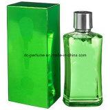 Frasco de vidro do bom perfume com tipo agradável na promoção e na vista de cristal