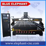 Máquina de madeira CNC de gravura de cabeça múltipla com 4 eixos, máquina de madeira para portas