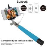 Bastone collegato allungabile di Selfie dell'acciaio inossidabile con l'audio del telefono mobile