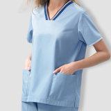 La nueva funda corta más barata unisex 2016 friega los uniformes médicos del personal del juego con los pantalones