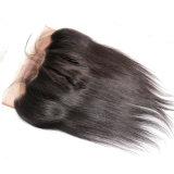 360 frontaux normaux soyeux péruviens de bande de lacet de délié de Straght de cheveux humains de Vierge de fermeture de face de lacet avec le cheveu de bébé