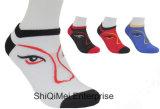 Kundenspezifische preiswerte Mann-Frauen-Polyester-Knöchel-Socken