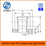 Steel inoxidable Pipe Press Fittings un Type Flange Coupling