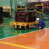 Coche de transferencia del moldeo por inyección en la pista para la dirección industrial del taller