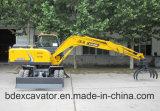 Excavatrice chaude de position du jaune 0.3m3 de vente petite/roue de Grasper