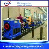Estaca redonda da câmara de ar da tubulação do CNC do plasma do aço inoxidável de 5 linhas centrais e máquina de chanfradura Kr-Xy5