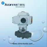 Robinet à tournant sphérique sanitaire électrique d'acier inoxydable KT