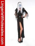 섹시한 여자의 까만 마녀 해적 Halloween Cosplay 복장