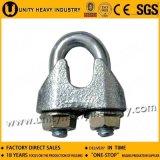 Clip malléable galvanisé électronique de câble métallique DIN 741