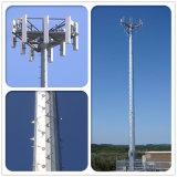 Tour unipolaire galvanisée de tube de Supproting d'individu de transmission de pipe d'antenne de télécommunication tubulaire simple en acier de Pôle