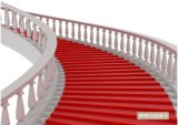 Tapis rouge Outdoor Indoor Event Floor Room Home Flooring Salon de l'exposition d'escalier