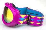 A menina personalizada caçoa óculos de proteção de segurança dos vidros dos esportes para o esqui