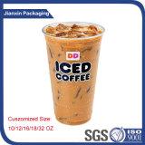 La marque remplaçable personnalisent la glace en plastique de tasse de cuvette