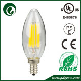 Le blanc chaud E27 E12 E14 effacent l'ampoule 4W de bougie de DEL
