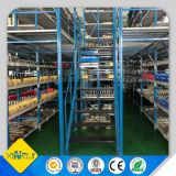 Estante de niveles múltiples del suelo del entresuelo del almacén ajustable de la tarjeta