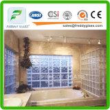 Azul/verde/bloco de vidro modelado diamante desobstruído/vidro do tijolo para a decoração