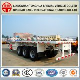 Flatbed Semi Aanhangwagen/de Aanhangwagen van de Vrachtwagen voor 40FT Vervoer van de Container