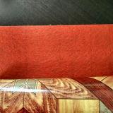 Plancher gravé en relief de PVC de support de feutre