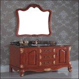 Étage antique de modèle restant la vanité de bassin de salle de bains en bois solide