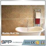 Telha de mármore interior bege de creme natural da parede de 100% para o banheiro