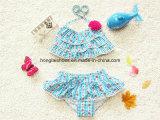 Голубой Swimsuit способа малышей маленьких девочек