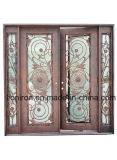 Роскошная красивейшая орнаментальная конструкция дверей входа утюга с классическим типом