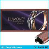 Caixa leve magro de alumínio do diodo emissor de luz do único acrílico lateral