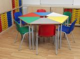 9-Kid's colorido Kindergarten Tables y Chairs Furniture