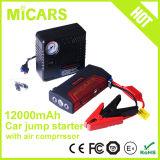 Mini dispositivo d'avviamento di salto della multi di funzioni automobile Emergency portatile di uso 12000mAh con il compressore d'aria