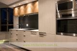木製の穀物のフラットパネルの食器棚(WH-D165)が付いている白いラッカー