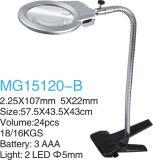 lupas de 2.25X107mm/5X22m m con la luz y el clip del LED