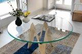 De Koffie van de ronde/van de Cirkel/het Dineren Tafelblad Aangemaakt Glas