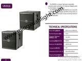 Sistema di audio della cassa di risonanza di Vrx918s Subwoofer