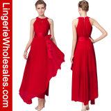 Elegantes Sleeveless Chiffon- langes Kleid der Frauen mit Satin-Bund