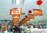 Bandiera verticale di pubblicità dell'interno di caduta della visualizzazione del vinile del PVC del soffitto