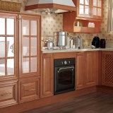 ヨーロッパのエクスポートのチェリーの純木の台所食器棚(OP15-S04)