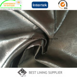 Calor de la chaqueta de cuero del poliester de la manera 100 grabado alineando la tela