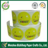 Sale caliente Custom Label Printing, Round Stickers en Roll