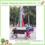 Strand-Regenschirm-im Freien faltender Lastwagen mit zusammenklappbarem kampierendem Karren-Tisch