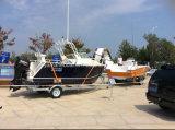 Barco de alumínio da cabine do Cuddy para a pesca