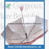 ギフト項目反紫外線3はコンパクトな自動車の開いた女性傘を折る