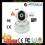 IP Camera da bandeja/Tilt Home Security WiFi HD P2p para Baby Monitor com Micphone, Speaker e ranhura para cartão do SD