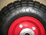 손수레 고무 바퀴 압축 공기를 넣은 공기 바퀴 4.10/3.50-4