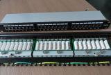 El panel de corrección del montaje de estante de RJ45 Cat5e CAT6 CAT6A (P198-16/32/48)