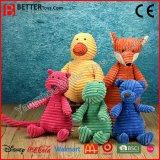 Les jouets colorés de bébé de peluche de peluche de sûreté caressent le jouet mou pour des gosses