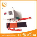 Calefator flexível da borracha de silicone do elemento de aquecimento com faixa de Velcro