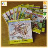 Libro infantil obligatorio de la tarjeta del color del Alambre-o de la alta calidad